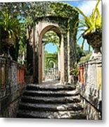 Walk In Vizcaya Gardens Metal Print