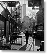 Walk Manhattan 1980s Metal Print