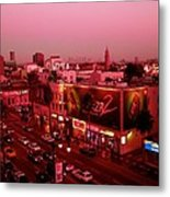 Walk Of Fame In Pink Metal Print