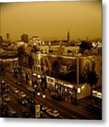 Walk Of Fame Hollywood In Sepia Metal Print