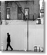 Walk Walk. New York. Metal Print