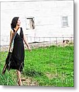 Walk With Hope In Your Heart Metal Print