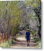 Walking Metal Print