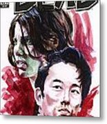 Walking Dead Glenn and Maggie Metal Print