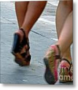 Walking In A Hurry Metal Print