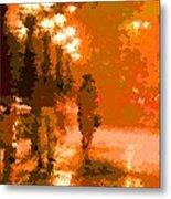 Walking In The Rain 02 Metal Print