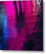 Walking In The Rain Metal Print