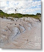 Walking In The Sand Metal Print
