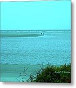 Walking In The Water At Isle Of Palms Metal Print