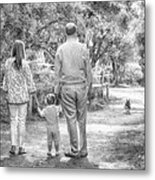 Walking Into The Light Metal Print by Kristina Deane