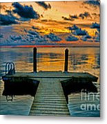 Walking Into The Sunset Metal Print