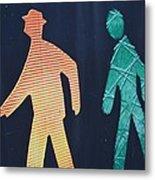Walking Man Symbol Metal Print