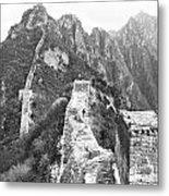 Walking On Great Wall Metal Print