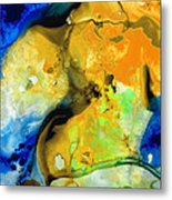 Walking On Sunshine - Abstract Painting By Sharon Cummings Metal Print