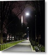 Walking Path Along The Reflecting Pool Metal Print