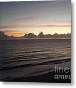 Walking The Beach At Sunrise Metal Print