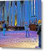 Walking The Indoor Labyrinth In Grace Cathedral In San Francisco-california Metal Print