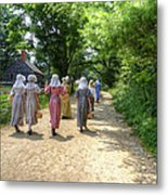 Walking To School Metal Print