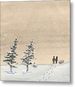 Walking Together Metal Print