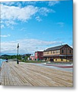 Walkway Along The Yukon River In Whitehorse-yk  Metal Print