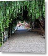 Walkway By The River Metal Print