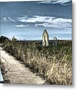 Walkway In The Marsh 2 Metal Print