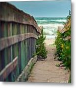 Walkway To The Beach Metal Print