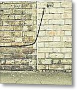 Wall And Wire Metal Print