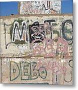 Wall Art Graffiti Concrete Walls Casa Grande Arizona 2004 Metal Print