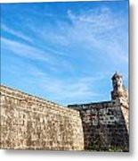 Wall Of Cartagena Colombia Metal Print