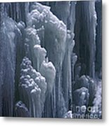 wall of ice in Partnach gorge 3 Metal Print