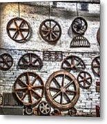 Wall Of Wheels Metal Print