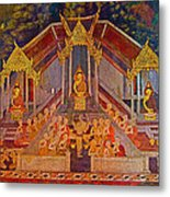 Wall Painting 3 At Wat Suthat In Bangkok-thailand Metal Print