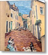 Wall Painting In Provence Metal Print