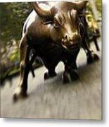 Wall Street Bull Metal Print