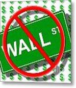 Wall Street No Metal Print