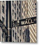 Wall Street Sign Metal Print