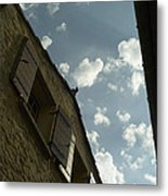 Wall With Clouds Metal Print