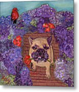 Wallace In The Garden Metal Print