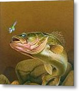 Walleye And Spinner Jig Metal Print by Jon Q Wright