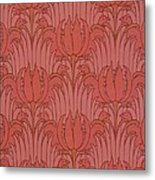 Wallpaper Design Metal Print by Victorian Voysey