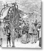 Wallpaper Printing, 1876 Metal Print