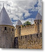 Walls Of Carcassonne Metal Print