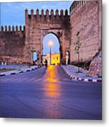Walls Of Fes In Morocco Metal Print