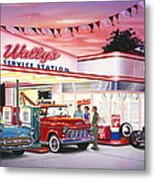 Wallys Service Station Metal Print