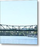 Walnut Grove Bridge Mural Metal Print