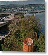 Walnut Street Bridge Chattanooga Metal Print