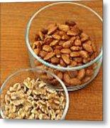 Walnuts And Almonds Metal Print