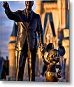 Walt And Mickey Metal Print