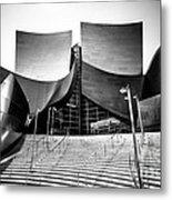 Walt Disney Concert Hall In Black And White Metal Print